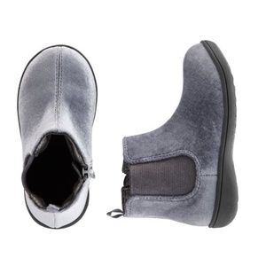Carter's Girls' Gray Velvet Boots